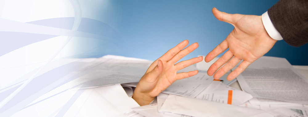 Helping hand in document scanning